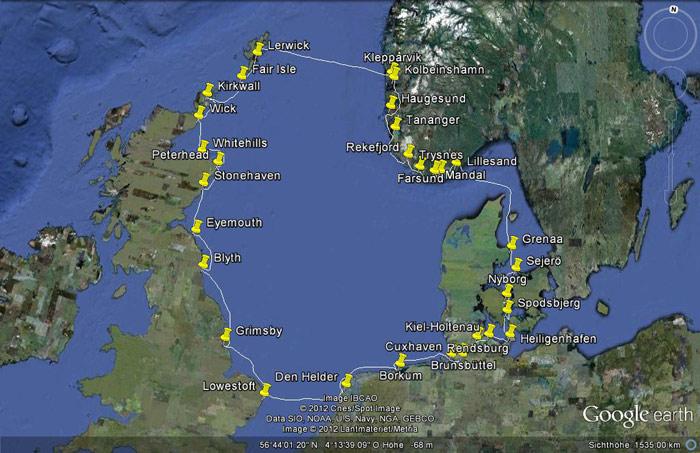 Svh Ssch Mit Der Koller Im Uhrzeigersinn Um Die Nordsee